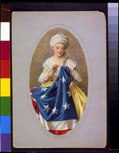 Photo: Betsey Ross,Betsy Ross sewing (Betsy Ross Flag Picture)