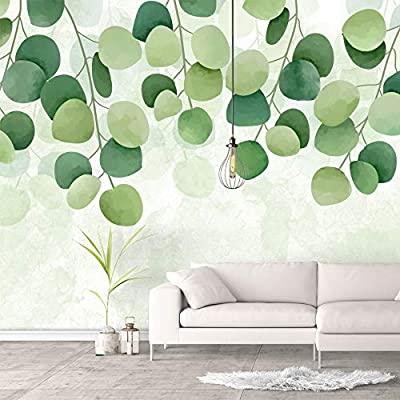 Wall Murals for Bedroom Green Plants Animals Removable Wallpaper Peel and Stick Wall Stickers, Made to Last, Pretty Composition