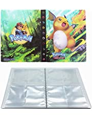 UHIPPO Albums for Pokemon Card Binder, Trading Card Album, Pokemon Card Notebook Holder, Card Protection Card Case, Holds 240 Cards (Back-to-Back) (Raichu)