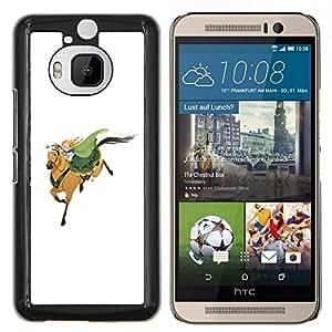 YiPhone /// Prima de resorte delgada de la cubierta del caso de Shell Armor - Caballero Blanco Verde Redhead lindo - HTC One M9Plus M9+ M9 Plus