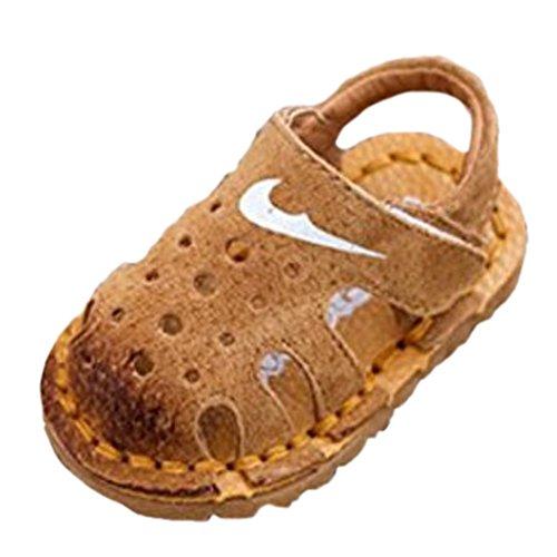 Ohmais Kinder Baby Jungen Baby Kleinkind Schuh Leder weich Grau