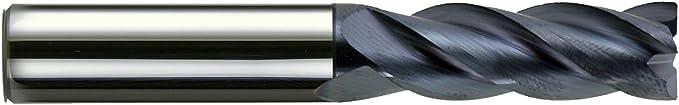3//8 4 Flute Variable Helix Carbide End Mill Sharp Corner NACO Coated Melin USA