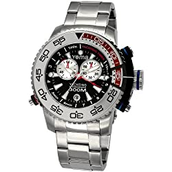 Yema Men's COYMHF0211 Sous Marine Yachting Analog Display Analog Quartz Silver Watch