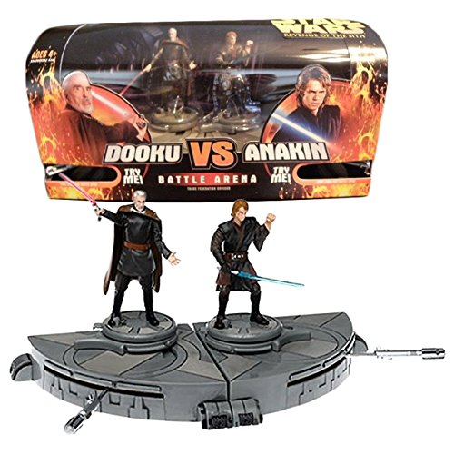 Hasbro Year 2005 Star Wars Revenge of the Sith Series 4 Inch Tall Action Figure Playset - TRADE FEDERATION CRUISER Battle Arena with COUNT DOOKU vs ANAKIN SKYWALKER
