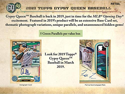 2019 Topps Gypsy Queen Baseball Factory Sealed 24 Pack Box - Baseball Wax Packs ()