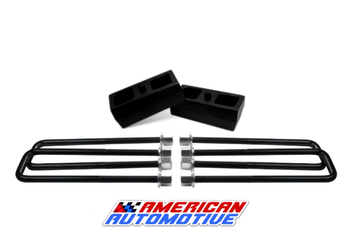 2005-2015 Tacoma 6-lug 2' Rear Suspension Lift Iron Blocks + 10' U Bolts American Automotive