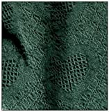 "Hunter Green Honeycomb Heart Afghan Throw Blanket 48"" x 60"""