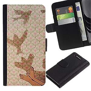 EuroTech - Sony Xperia Z1 Compact D5503 - Art Meaning Deep Metaphor Kid Child - Cuero PU Delgado caso Billetera cubierta Shell Armor Funda Case Cover Wallet Credit Card