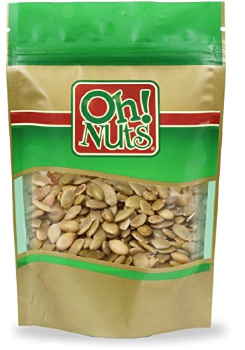 Pumpkin Seeds Roasted Salted, Pepitas Roasted Salted Great for Healthy Snacking or Salad Toppings No Shell - Oh! Nuts