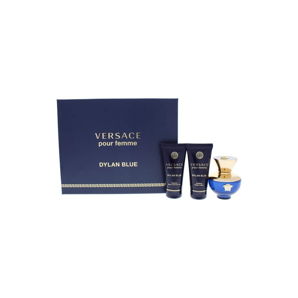 Versace Dylan Blue By Versace for Women - 3 Pc Gift Set 1.7oz Edp Spray, 1.7oz Shower Gel, 1.7oz Body Lotion, 3count