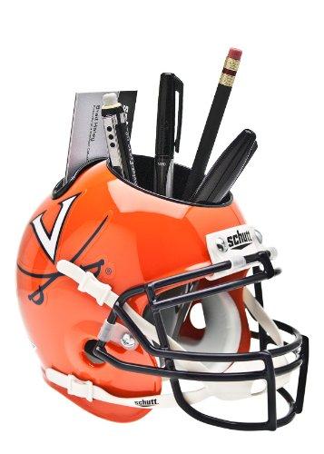 Virginia Cavaliers Team Helmet (NCAA Virginia Cavaliers Helmet Desk Caddy, Orange/Navy)