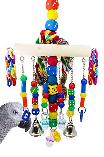 Bonka Bird Toys 879 CHAIN WATERFALL BIRD TOY parrot cage toys cages African grey amazon conure