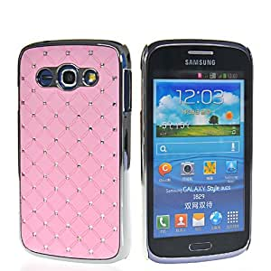 HKCFCASE Bling Cromo Duro Carcasa Tapa Caso Funda Case Cover Para Samsung Galaxy Style Duos I829 Rosa