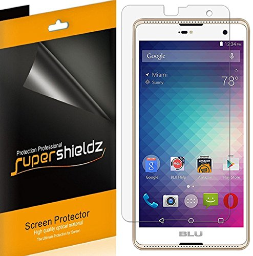 (6 Pack) Supershieldz for BLU Advance 5.5 HD Screen Protector, High Definition Clear Shield (PET)