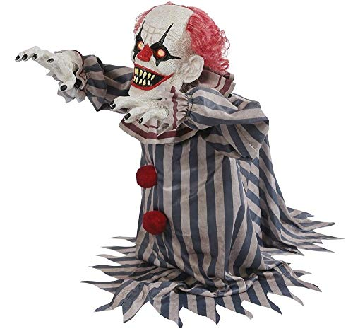 Jumping Clown Prop Animated Lunging Haunted House Halloween Decoration by Tru Sales ()
