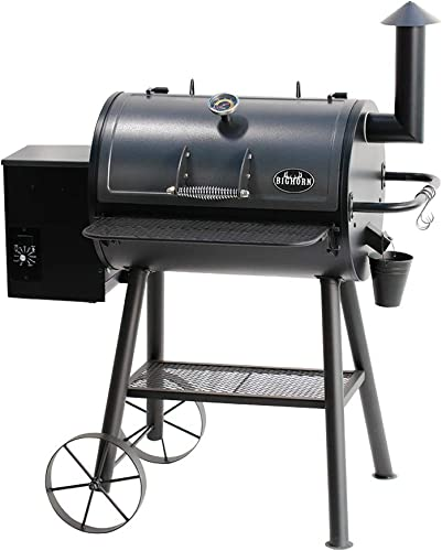 BIG HORN OUTDOORS Pellet Grill Smoker, Wood Pellet Grills with 700 Sq. In. Cooking Area, 6-In-1 BBQ Grill with Digital Auto Temperature Control, Temperature Gauge, Black