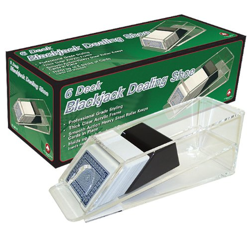 Acrylic Professional 6-Deck Dealer Shoe - Comes with Free Cut Cards! by TMG