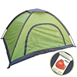 Hugemix 2 Person Tent, Perfect 3-Season Lightweight Backpacking Dome Tent for Camping, Hiking, Road Trips, Fishing, Parks, Beach, Outdoors and Indoors
