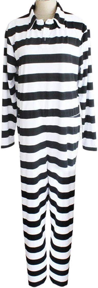 Amazon.com: Cosplay Life Nanbaka Jyugo Prison No.15 Prison Suit Mens Full Jumpsuit Halloween Jail Costume: Clothing