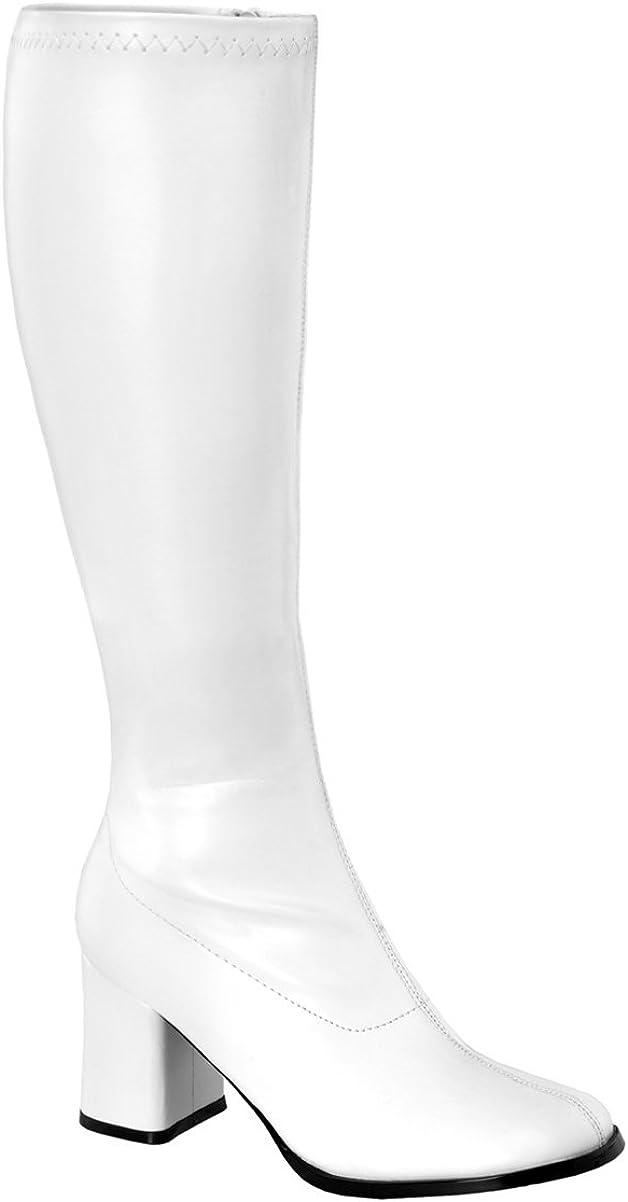 Funtasma Womens Knee High Boots White