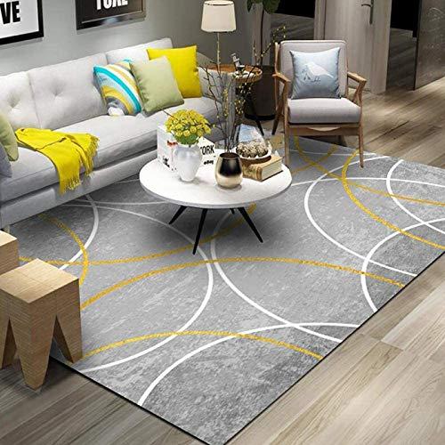 GOYAN Alfombras Online Alfombra de Salon Alfombra Diseno Moderna d Cuadros de Pelo Corto Mezcla Oscuro Poliester Antideslizante facil Mantenimiento IKEA alfombrasH-140x200cm