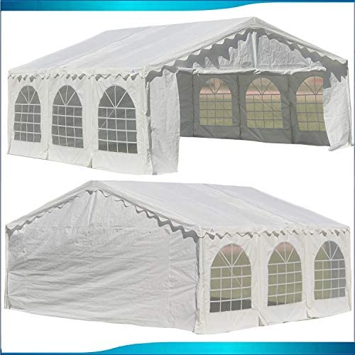 DELTA Canopies Budget PE Party Tent Canopy Shelter 20 x20 – White