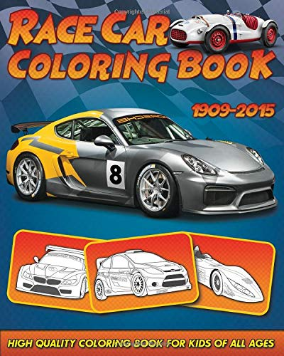 Pdf History Race Car Coloring Book: 30 High Quality Race Car Design for Kids of All Ages