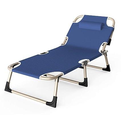 Amazon.com: Cama plegable para acampar al aire libre, silla ...