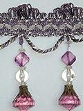 """4"""" Exquisite Tassel Fringe Bead Trim Purple Per"""