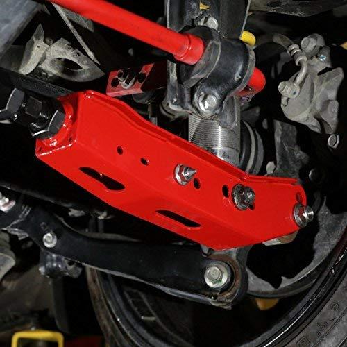 (BLOX Racing Red Rear Lower Control Arms for Subaru WRX / STI / BRZ / Scion FRS)