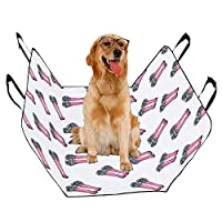 JTMOVING Fashion Oxford Pet Car Seat Flower Boots Romantic Girl Hand Drawn Waterproof Nonslip Canine Pet Dog Bed Hammock Convertible for Cars Trucks SUV
