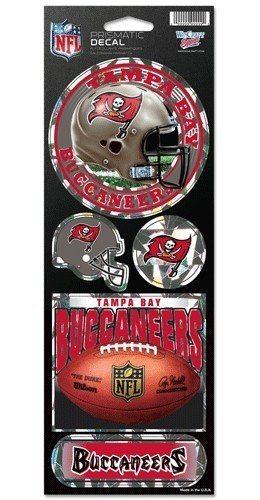 NFL Tampa Bay Buccaneers Prismatic Stickers, Team Color, One Size