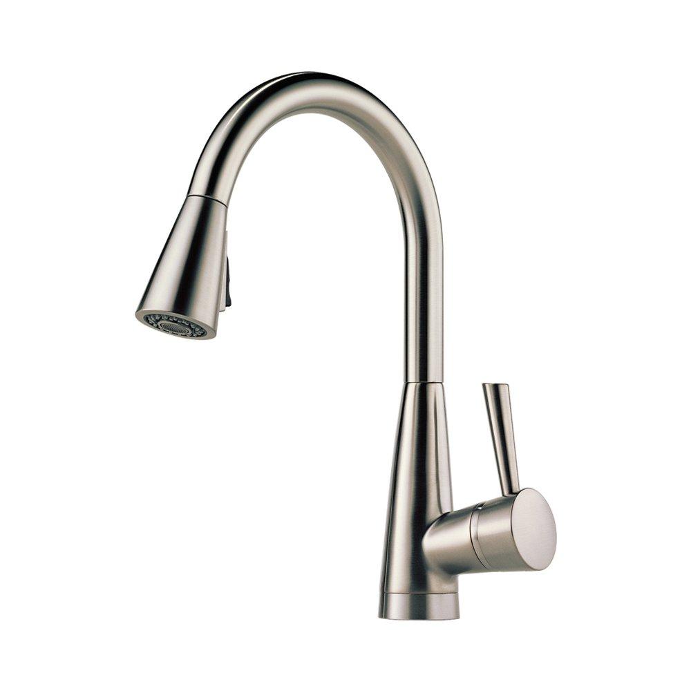 Brizo 63070LF-SS Venuto Kitchen Faucet Single Handle Deck Mount Pull ...