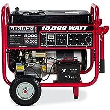 Gentron Portable Gas Generator with Electric Push Start, 8,000 Running Watts, 10,000 Peak Watts