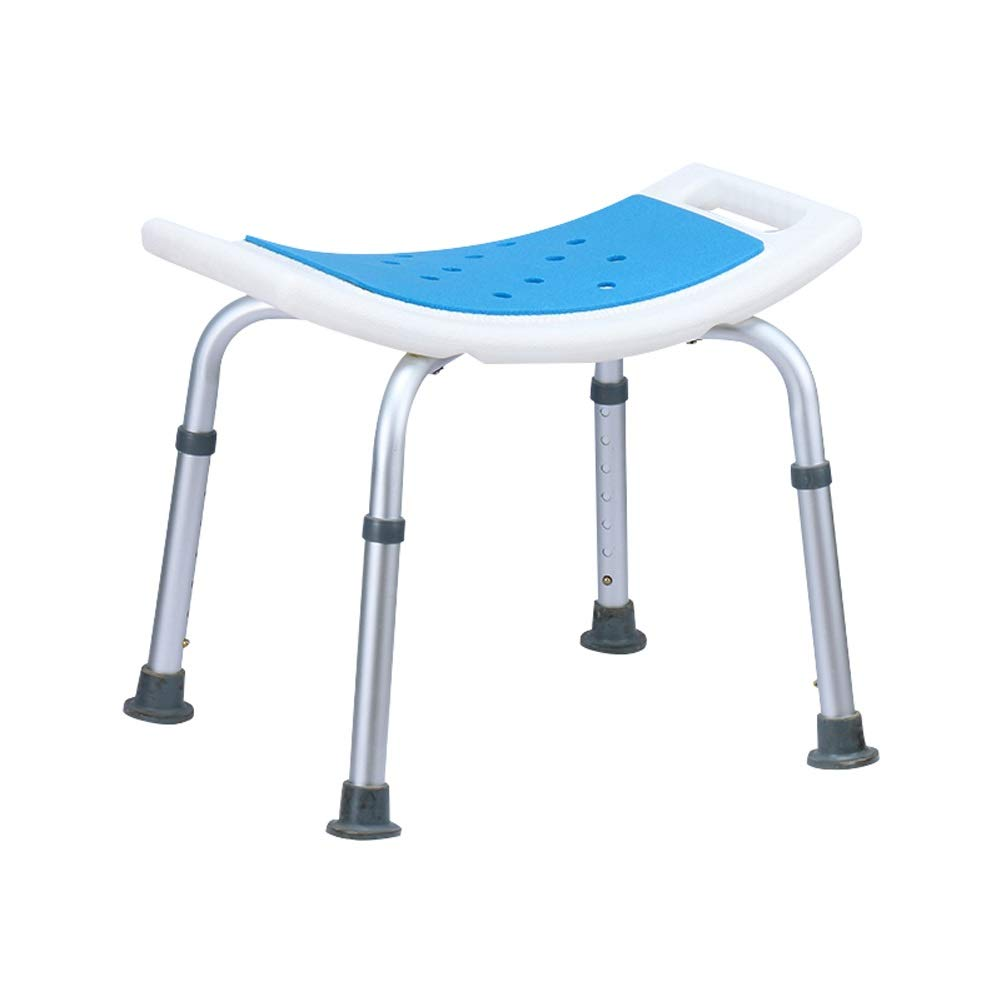 BEAUTY--shower stool, Aluminium Shower Seat Chair Non-Slip Height Adjustable Disability Aid,Suitable for People with Reduced Mobility (Color : with Cushion)
