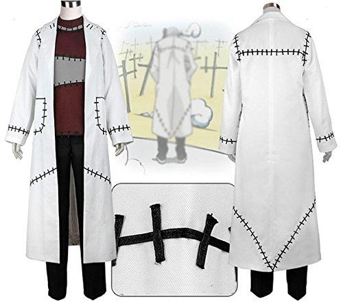 Frankenstein Costume White Trench Coat Soul Fancy Eater Costume L