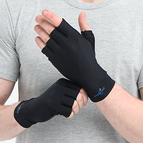 Arthritis Gloves Opecking Rheumatoid Copper Arthritis Gloves   Relieve Carpal Tunnel Symptoms Of Rheumatoid Tendonitis Typing Raynaud For Women And Men  Medium