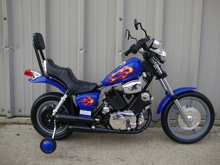 KIDS 6V ELECTRIC RIDE ON MOTORCYCLE chopper By Paradise Yardie