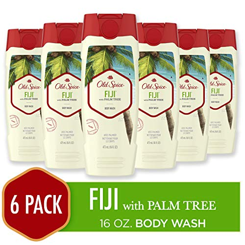Old Spice Body Wash for Men, Fresher Fiji Scent, Fresher Collection, 16 Fluid Ounce (Pack of 6)