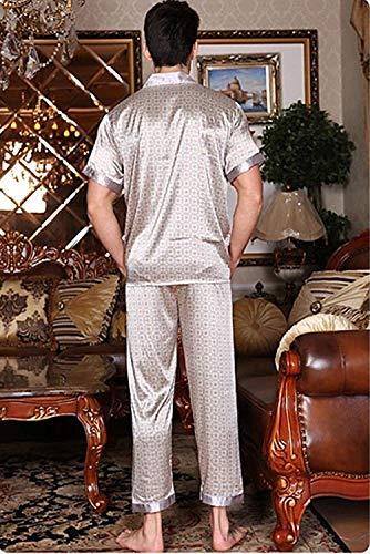 De Mode Pijama Dormir Largo Casa Los Ligera Bolawoo Piezas Grau2 Verano Dos Baño Momma Marca Hombres Manga Ropa Corta z5Hxdqw
