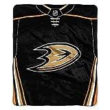"""NHL Anaheim Ducks """"Jersey"""" Raschel Throw"""