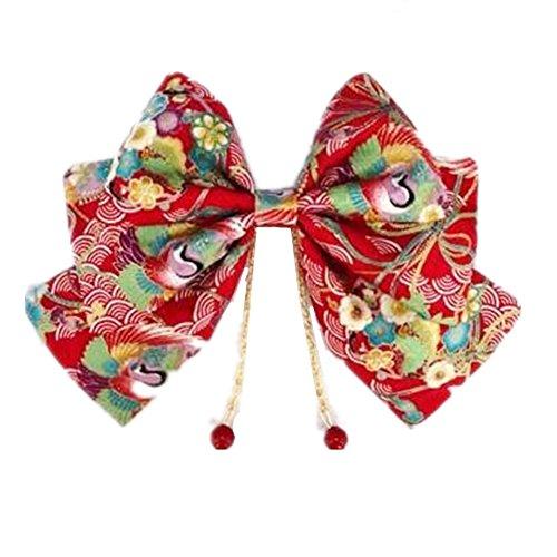- Womens Japanese Kimono Bow Headwear Hairpin for Girl (C)