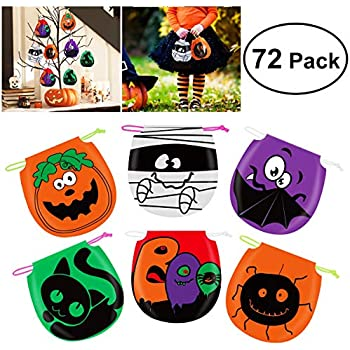 Amazon.com: 36-Pack Halloween Party Treat Bags - Recyclable ...