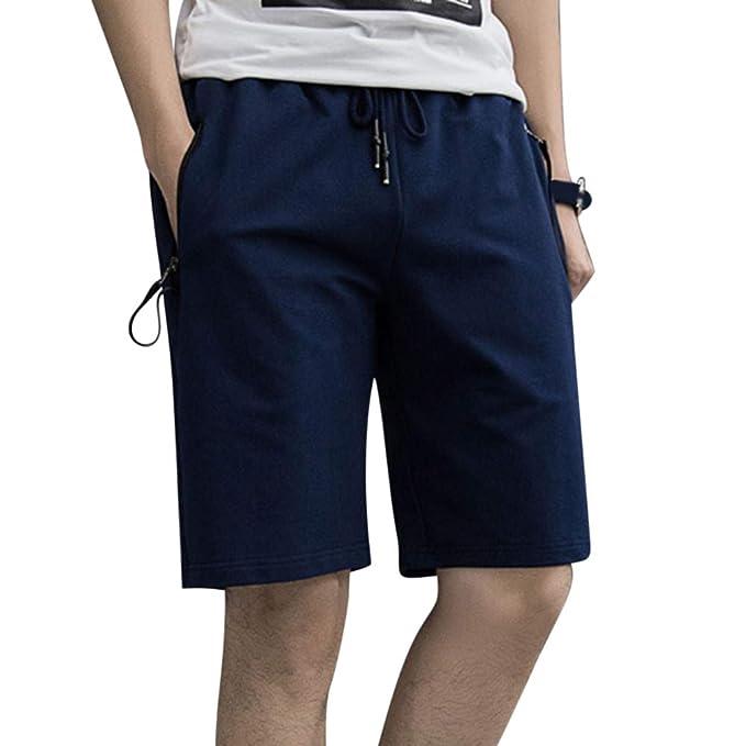 Anyua Bermudas Cortos Grandes Pantalones Hombre Tallas Casual 1WpCwrcaq1