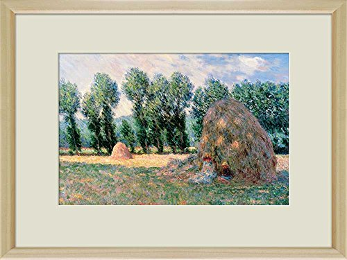 Creative 3D Visual Effect Wall Mural Haystacks by Claude Monet Peel Stick Wall Decor