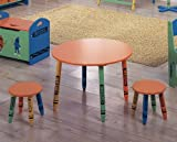 AtHomeMart Children Crayon Pencil Style Table and 2 Chairs Set