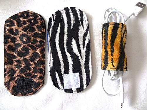 Cord-inator, Cord Organizers for Chargers, Earbuds, USB Cords Set of 3 - Animal Prints
