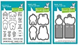 Lawn Fawn Clear Stamp & Die Set - Slow Down and Enjoy Clear Stamp Set & Slow Down and Enjoy Matching Die and Slow Down and Enjoy Add-on Dies, 3 piece bundle (LF1602, LF1603, LF1604)