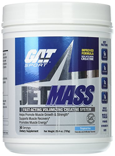 GAT SPORT Jetmass Tropical Ice New Protein Drink, 1 Pound (Best Workout For Mass)