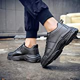 Men's Chunky Sneaker,Mosunx Athletic Arch Support Lace Up Comfortable Gym Running Walking Shoes Boys Solid Fashion Casual Work Shoes